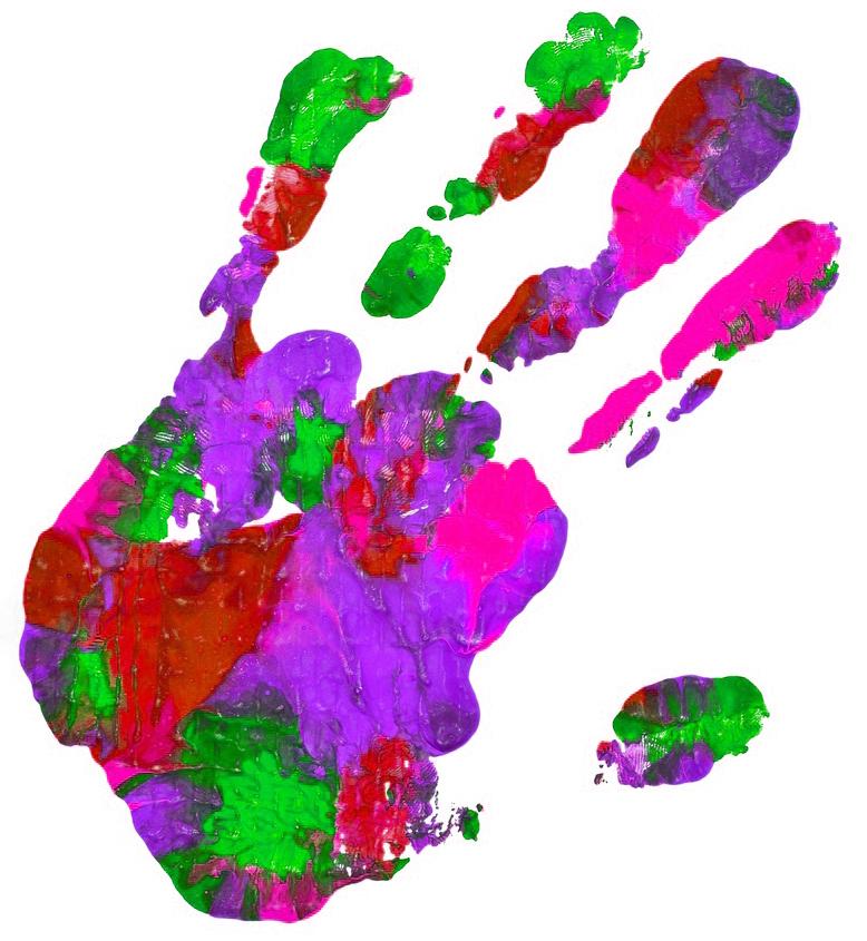 Drei bunte Kinderhände
